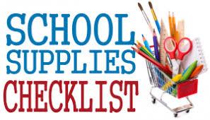 Student Supplies List